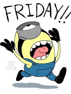 Friday Minion Pictures, Photos, and Images for Facebook, Tumblr, Pinterest, and Twitter