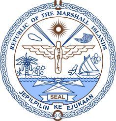Brasão de armas das Ilhas Marshall. Coat of arms of the Marshall Islands.