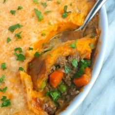 Shepherd's pie gets a flavorful twist with whipped sweet potatoes scented with maple and orange zest. Comfort food you can feel good about eating.