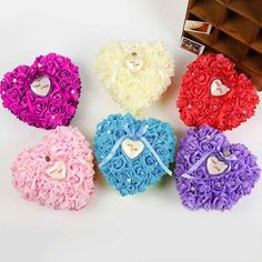 Good Romantic Rose Wedding Favors Heart Shaped Gift Ring Box Pillow Decoration Diy Artificial Handmade Flowers Decorative Halloween Prepared For The Surprise Rose Wedding, Diy Wedding, Wedding Favors, Wedding Flowers, Wedding Decorations, Handmade Wedding, Party Favors, Wedding Rings, Romantic Roses