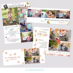 Mini Session Postcard  Photography Template  Flyer  Fall