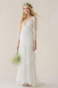 Magnifique robe pour un look bohème romantique. Designer Michele Corty of Rue de Seine