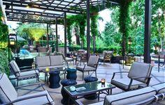 Terrace at Villa Magna hotel in Madrid