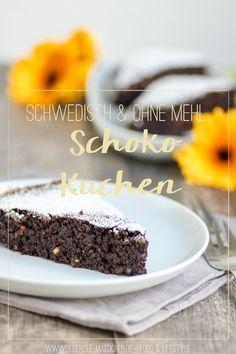 Rezept für Schwedischer Schokokuchen Chokladbak ohne Mehl | Swedish Chocolate Cake without flour via UeberSee-Maedchen.de