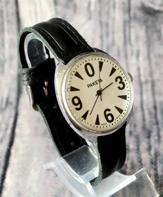 Men's Vintage Watch 1990s Collectibles USSR RAKETA by bestLuba