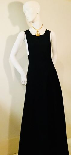 7f3945b1d85 Daring Vintage 70s London Boutique Black Pinafore Maxi Dress 10  fashion   clothing  shoes  accessories  vintage  womensvintageclothing (ebay link)