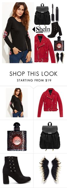 """""""Untitled #815"""" by veronica7777 ❤ liked on Polyvore featuring Andrew Marc, Yves Saint Laurent, Chanel and shein"""