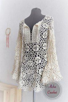 Inspiration - Beautiful bohemian crochet top