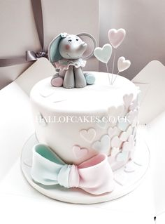 Elephant Baby Shower Cake by Hall of Cakes