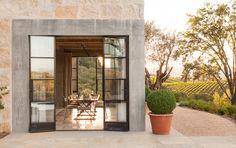 Healdsburg Ranch: mixing indoor with outdoor.