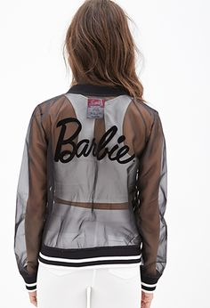 Barbie Doll Varsity Jacket | FOREVER 21 - 2000057501