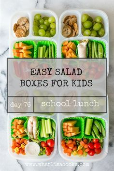 School Lunch Day 76: Salad Boxes