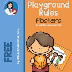 Playground Rules Poster Set from Peaceful Playgrounds Shop on TeachersNotebook.com -  (10 pages)  - This Playground Rules Poster Set includes 8 posters listing some of the most utilized playground rules.