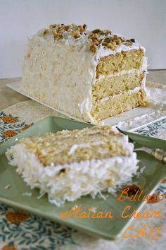 Billie's Italian Creme Cake - from @Ree Drummond | The Pioneer Woman's newest Cookbook!