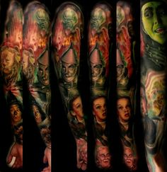 The wizard of Oz sleeve complete. Thanks for looking!  INSTAGRAM:@christopherbettley www.facebook.com/tattoosbychristafist