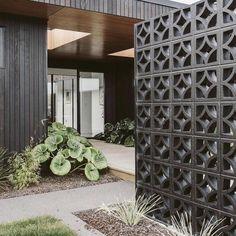 Concrete Patios, Cement Patio, Concrete Blocks, Concrete Fence, Style At Home, Breeze Block Wall, Privacy Walls, Privacy Screens, Patio Privacy