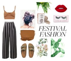 """""""Festival season"""" by norarl on Polyvore featuring Birkenstock, Tommy Hilfiger, Boohoo and Lime Crime"""