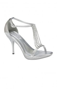 These shoes here are the perfect silver slipper! Silver snakeskin ...