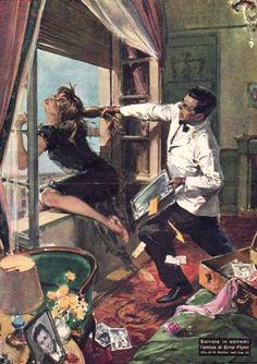 Molino, Walter (b,1915)- Errol Flynn's Girlfriend, Attempts Suicide- 'La Domenica del Corriere'- Nov. 1959