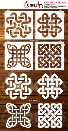 This item is unavailable Stencils, Stencil Templates, Stencil Patterns, Stencil Designs, Embroidery Patterns, Hand Embroidery, Zentangle Patterns, Celtic Symbols, Celtic Art