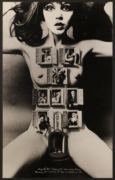 Alan Aldridge's design for Chelsea Girls, directed by Andy Warhol and Paul Morrissey and starring Nico, 1966