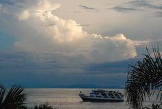 Storm clouds rising over Lake Kivu in Goma, North Kivu, DRC-Congo.