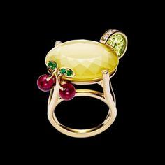 红碧玺黄金钻石戒指-伯爵珠宝 G34LQ700