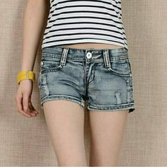 🔴Clearance🔴 Destroy washed denim shorts. Just in time for warmer weather :) Shorts Jean Shorts