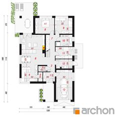 Dom w renklodach 5 Floor Plans, Modern, Houses, Home, Homes, Trendy Tree, House, Computer Case, Floor Plan Drawing
