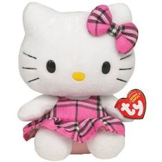 Ty Beanie Baby Hello Kitty Tartan  Official product from Ty?s wildly popular Beanie Babies Collection