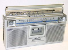 Vintage boombox. JVC Stereo Radio Cassette Recorder .....................Please save this pin.   .............................. Because for vintage collectibles - Click on the following link!.. http://www.ebay.com/usr/prestige_online