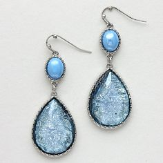 Sabine Earrings in Blue Iridescence on Emma Stine Limited