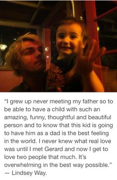 As much as I ship frerard more than life this is still cute and that picture is adorable.