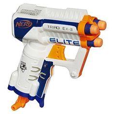 Pistol Toy Nerf N-Strike Elite TRIAD EX-3 Dart Micro Blaster Soft Dart Gun Darts #Nerf