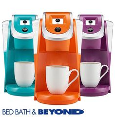 Perk up any space with the Keurig® 2.0 K250. Choose from seven unique colors to add a pop of fun to your décor, then colorfully brew your favorite coffee, tea or hot chocolate with the push of a button.
