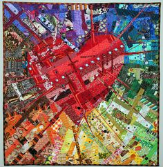 Amazing Tecnicolor Heart Quilt | Flickr - Photo Sharing!