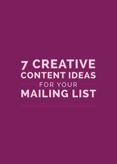 7 Creative Content I