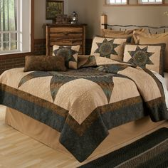 Forest Star Quilted Bedding, Country Pillows - Donna Sharp