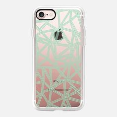 Abstract New Mint Transparent - #casetifyiphone7 #iphone7 #geometric #abstract #phonecase