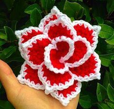 "Best 9 Ravelry: Rose ""NoSo"" pattern by Cynthia L. Diy Crafts Rose, Diy Crafts Crochet, Crochet Projects, Crochet Flower Tutorial, Crochet Flowers, Easy Crochet Flower, Crochet Leaves, Crochet Motif, Crochet Patterns"