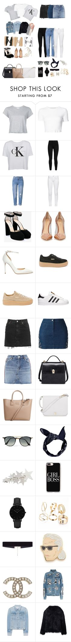 """""""Save the Basics"""" by finderskeeper ❤ liked on Polyvore featuring interior, interiors, interior design, home, home decor, interior decorating, RE/DONE, Rosetta Getty, Calvin Klein and Levi's"""