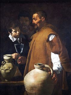 """Diego Velázquez, Water Carrier of Seville, ca. 1619. Oil on canvas, 3' 5 1/2"""" x 2' 7 1/2"""". Victoria & Albert Museum, London."""