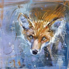 Animal Cards - Indigo Blue Trading Animal Painter, Animal Paintings, Pastel, Pet Fox, Watercolor Animals, Abstract Animals, Fox Art, Animal Cards, Wildlife Art
