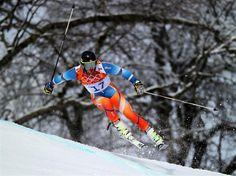 Kjetil Jansrud of Norway in action during the Alpine Skiing Men's Giant Slalom. Sochi 2014 Day 13 - Alpine Skiing Men's Giant Slalom. © 2014 XXII Winter Olympic Games.