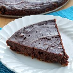 Ghirardelli Brownie Batter Pie with Oatmeal Cookie Crust | The Smart Cookie Blog
