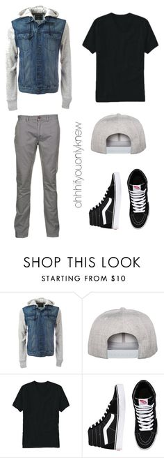 Untitled #229 by ohhhifyouonlyknew on Polyvore featuring Old Navy, Just A Cheap Shirt, Vans, Flexfit, men's fashion and menswear