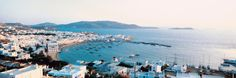 White Houses and Aegean Sea Mykonos Isl Greece Photographic Print