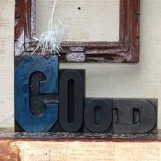 Vintage antique letterpress wood blocks GOOD  by oldkeysvintage, $18.00