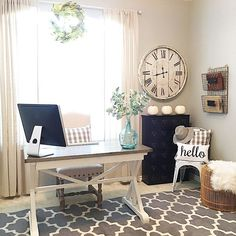 52 Farmhouse Office Style Inspiration More info, you can go directly to the webs. 52 Farmhouse Office Style Inspiration More info, you can go directly to the website Guest Room Office, Desk Decor, Decor, Small Space Office, Home Office Decor, Interior, Office Design, Farmhouse Office Decor, Home Decor