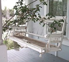 Beautiful old porch swing!
